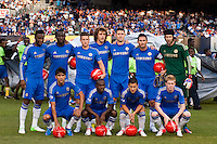 Chelsea FC starting eleven. Chelsea FC and Paris Saint-Germain played to a 1-1 tie during a 2012 Herbalife World Football Challenge match at Yankee Stadium in New York, NY, on July 22, 2012.