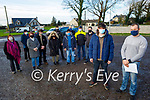 The members of the Ballyduff/Lixnaw Wind awareness group meeting in Lixnaw on Sunday about the proposed windfarm in the Lixnaw Ballinagare Bog. Front: Aidan Prendeville and Johnny O'Grady