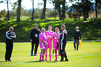 Officials relax before the the Under-19 provincial rugby union match between Northland (sky blue) and Southland (maroon) at Owen Delaney Park, Taupo, New Zealand on Sunday, 27 September 2015. Photo: Dave Lintott / lintottphoto.co.nz