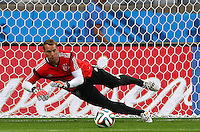 Germany goalkeeper Manuel Neuer during training ahead of tomorrow's semi final vs Brazil