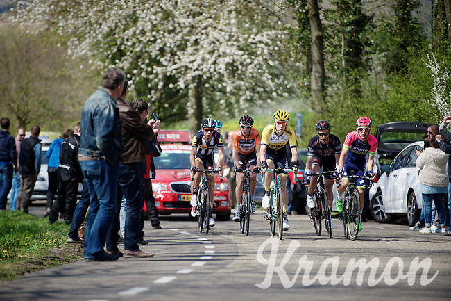 race leaders over the Camerig climb<br /> <br /> 50th Amstel Gold Race 2015