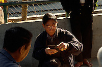 China, Hongkong-Yau Ma Tei,  Kartenspieler