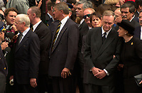 Montreal (qc) CANADA - Oct 3rd 2000 file Photo- Funeral of former Canadien Prime Minister Pierre Eliott Trudeau : Jimmy Carter<br /> <br /> PHOTO : Agence Quebec Presse - Pierre Roussel
