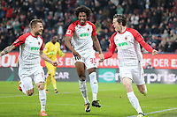 of  Daniel Baier #10 (FC Augsburg), Francisco da Silva Caiuby #30 (FC Augsburg), Michael Gregoritsch #11 (FC Augsburg)  1:0, FC Augsburg vs. RB Leipzig, Football, 1.Bundesliga, 19.09.2017 *** Local Caption *** © pixathlon<br /> Contact: +49-40-22 63 02 60 , info@pixathlon.de