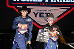 Denton Parish, Nicky Northcott, during the Team Roping Back Number Presentation at the Junior World Finals. Photo by Andy Watson. Written permission must be obtained to use this photo in any manner.
