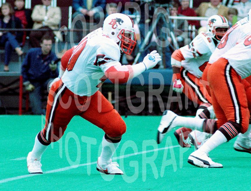 """James """"quick"""" Parker BC Lions. Copyright photograph Scott Grant/"""