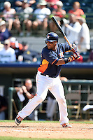 Houston Astros catcher Carlos Corporan (22) during a spring training game against the Miami Marlins on March 21, 2014 at Osceola County Stadium in Kissimmee, Florida.  Miami defeated Houston 7-2.  (Mike Janes/Four Seam Images)