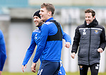 St Johnstone Training....24.02.21<br />A happy Stevie May pictured with Jason Kerr during training at McDiarmid Park ahead of Sunday's BETFRED Cup Final against Livingston at Hampden Park.<br /><br />Picture by Graeme Hart.<br />Copyright Perthshire Picture Agency<br />Tel: 01738 623350  Mobile: 07990 594431
