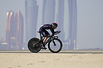 Adam Yates (ENG) Ineos Grenadiers during Stage 2 of the 2021 UAE Tour an individual time trial running 13km around  Al Hudayriyat Island, Abu Dhabi, UAE. 22nd February 2021.  <br /> Picture: Eoin Clarke | Cyclefile<br /> <br /> All photos usage must carry mandatory copyright credit (© Cyclefile | Eoin Clarke)