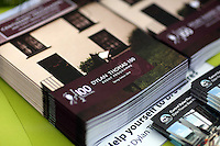Wednesday 28 May 2014, Hay on Wye, UK<br /> Pictured: Dylan Thomas 100 years from the day he was born, event programme.<br /> Re: The Hay Festival, Hay on Wye, Powys, Wales UK.
