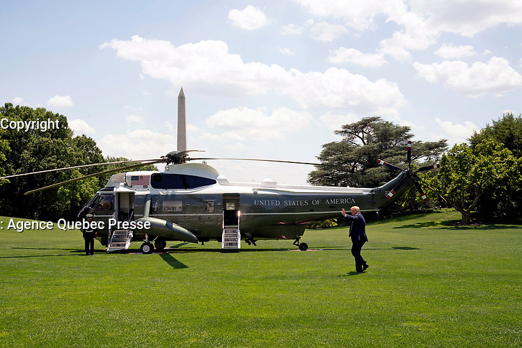 President Donald J. Trump boards Marine One on the South Lawn of the White House Wednesday, June 26, 2019, to begin his trip to Japan. (Official White House Photo by Joyce N. Boghosian)