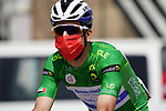 Green Jersey João Almeida (POR) Deceuninck-Quick Step heads to sign on before the start of Stage 3 of the 2021 UAE Tour running 166km from Al Ain to Jebel Hafeet, Abu Dhabi, UAE. 23rd February 2021.  <br /> Picture: Eoin Clarke | Cyclefile<br /> <br /> All photos usage must carry mandatory copyright credit (© Cyclefile | Eoin Clarke)