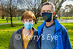 Hilda and Geoff Stacey enjoying a stroll in the Tralee town park on Monday