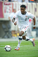 USA's Robbie Findley dribbles the ball .during an international friendly tune up match against Turkey for the 2010 World Cup, at Lincoln Financial Field, in Philadelphia, PA, Saturday, May 29, 2010. USA defeated Turkey 2-1.