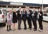 From left are Faye Lambert, Community Rail Officer North Staffs, Rachel Johnson, Jason Cocker, Helen Gatensbury, Mark Winter, Andy Moore and Clare Horton of Staffs County Council