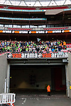 Tranmere Rovers 1 Forest Green Rovers 3, 14/05/2017. Wembley Stadium, Conference play off Final. A steward waits for the end of his shift after the Vanarama Conference play off Final  between Tranmere Rovers v Forest Green Rovers at the Wembley. Photo by Paul Thompson.