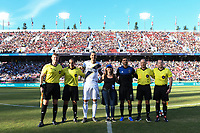 STANFORD, CA - JUNE 29: Zlatan Ibrahimovic #9, Chris Wondolowski #8 during a Major League Soccer (MLS) match between the San Jose Earthquakes and the LA Galaxy on June 29, 2019 at Stanford Stadium in Stanford, California.