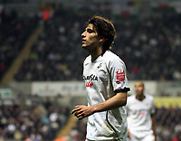 Pictured: Jordi Gomez of Swansea city<br /> Re: Coca Cola Championship, Swansea City Football Club v Queens Park Rangers at the Liberty Stadium, Swansea, south Wales 21st October 2008.