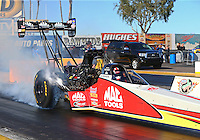 Feb 3, 2016; Chandler, AZ, USA; NHRA top fuel driver Doug Kalitta during pre season testing at Wild Horse Pass Motorsports Park. Mandatory Credit: Mark J. Rebilas-USA TODAY Sports