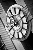 Black & white Art Deco clock. Cincinnati Ohio United States Cincinnati Union Terminal.