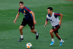 Diego Llorente and Jesus Navas during the Trainee Session at Ciudad del Futbol in Las Rozas, Spain. September 02, 2019. (ALTERPHOTOS/A. Perez Meca)