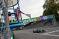 10th September, September 2021; Nationale di Monza, Monza, Italy; FIA Formula 1 Grand Prix of Italy, Free practise and qualifying for sprint race:  77 Valtteri Bottas FIN, Mercedes-AMG Petronas F1 Team takes pole for the sprint race