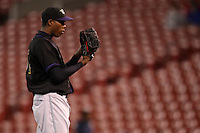 May 3, 2010:  Starting pitcher Aroldis Chapman (51) of the Louisville Bats during the fifth inning of a game vs. the Buffalo Bisons at Coca-Cola Field in Buffalo, NY.   Louisville defeated Buffalo by the score of 20-7, Chapman got the win on the mound.  Photo By Mike Janes/Four Seam Images