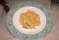 """- Italian food , typical kitchen of the Emilia region, preparation of spinach and ricotta calzoncelli (stuffed pasta). Restaurant """"Da Ivan"""" in Roccabianca (Parma)<br /> <br /> - Cibo italiano, cucina tipica della regione Emilia, preparazione dei calzoncelli di spinaci e ricotta. Ristorante """"Da Ivan"""" di Roccabianca (Parma)"""