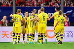 Borussia Dortmund midfielder Gonzalo Castro (c) celebrating his score with his teammates during the International Champions Cup China 2016, match between Manchester United vs Borussia  Dortmund on 22 July 2016 held at the Shanghai Stadium in Shanghai, China. Photo by Marcio Machado / Power Sport Images