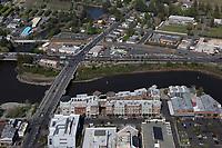 aerial photograph of downtown Napa at the Napa River, California