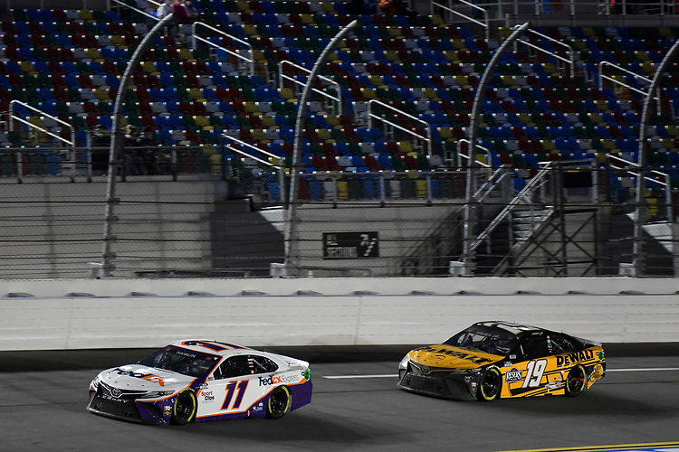 #11: Denny Hamlin, Joe Gibbs Racing, Toyota Camry FedEx Express #19: Martin Truex Jr., Joe Gibbs Racing, Toyota Camry DeWalt