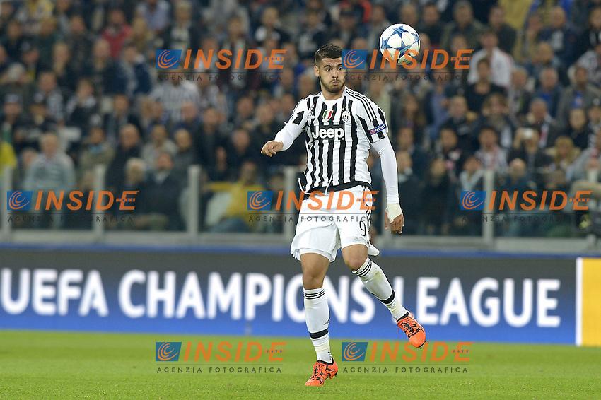 Alvaro Morata Juventus,<br /> Torino 30-09-2015, Juventus Stadium, Football Calcio 2015/2016 Champions League, Juventus - Sevilla/Siviglia, foto Filippo Alfero/Insidefoto