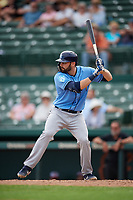 Tampa Bay Rays catcher Anthony Bemboom (67) at bat during a Grapefruit League Spring Training game against the Baltimore Orioles on March 1, 2019 at Ed Smith Stadium in Sarasota, Florida.  Rays defeated the Orioles 10-5.  (Mike Janes/Four Seam Images)