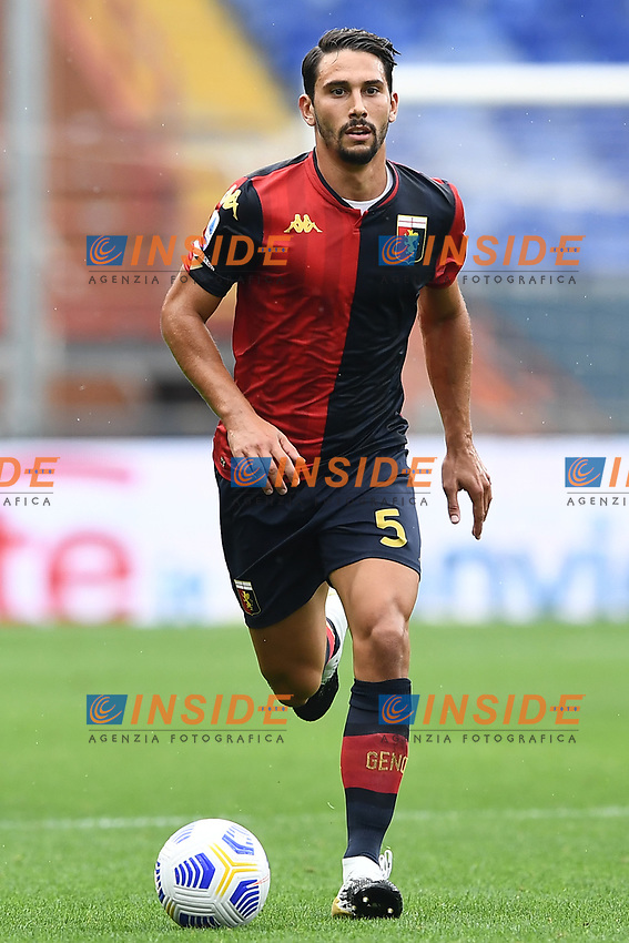 Edoardo Goldaniga <br /> Serie A football match between Genoa CFC and FC Crotone at Marassi Stadium in Genova (Italy), September 20th, 2020. Photo Image Sport / Insidefoto