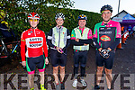 """Killarney Cycling Club members Noel Reid, Siobhan Donaldson, Mike Brosnan and Ger Sweeney taking part in the Tom Crean """"Unsung Hero"""" Cycle fundraiser in the Bsllyseede Garden Centre on Saturday."""