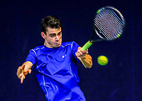Hilversum, Netherlands, December 3, 2017, Winter Youth Circuit Masters, 12,14,and 16, years, Jesse den  Hartog (NED)<br /> Photo: Tennisimages/Henk Koster