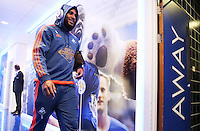 Ashley Williams of Swansea City arrives before the Barclays Premier League match between Leicester City and Swansea City played at The King Power Stadium, Leicester on April 24th 2016