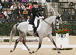 April 25, 2014: RF Smoke On The Water and Marilyn Little compete in Dressage at the Rolex Three Day Event in Lexington, KY at the Kentucky Horse Park.  Candice Chavez/ESW/CSM