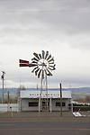 Rural America, Out of Business, Used farm equipment lot, Miller Freewater, Oregon, Pacific Northwest, U.S.A.,