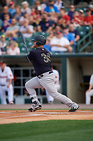 Scranton/Wilkes-Barre RailRiders Mike Ford (36) at bat during an International League game against the Rochester Red Wings on June 24, 2019 at Frontier Field in Rochester, New York.  Rochester defeated Scranton 8-6.  (Mike Janes/Four Seam Images)