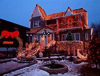 Montreal (Qc) CANADA -Dec 1999<br /> Christmas decoration defore Jan 1 2000