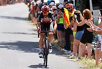 11th July 2021, Ceret, Pyrénées-Orientales, France; Tour de France cycling tour, stage 15, Ceret to  Andorre-La-Vieille;    DE GENDT Thomas (BEL) of LOTTO SOUDAL during stage 15 of the 108th edition of the 2021 Tour de France cycling race, a stage of 191,3 kms between Ceret and Andorre-La-Vieille.