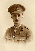 BNPS.co.uk (01202) 558833<br /> Pic: TriciaRothwell/BNPS<br /> <br /> Captain Norman Hall<br /> <br /> A British officer's harrowing war diaries telling of being 'blown 15 yards off his feet' at the Somme have been published by his granddaughter 105 years later.<br /> <br /> Captain Norman Hall recounts the horrors he witnessed while serving  on the Western Front in the summer of 1916.<br /> <br /> He also describes a man's foot 'wizzing past his head' in the diaries which reveal 'up to 50 near misses' he had during World War One.