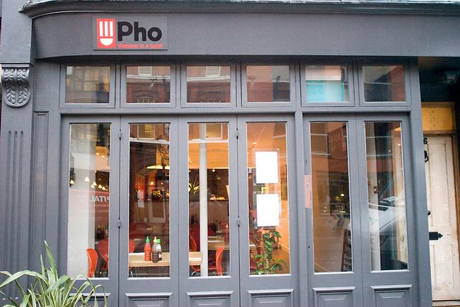 Exterior, Pho Restaurant, Hoxton, London, Great Britain, Europe