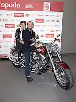 Lionel CHARBONNIER et sa femme Anna - Prix d'Amerique Opodo 29 janvier 2017 - Hippodrome de Vincennes - Paris - France