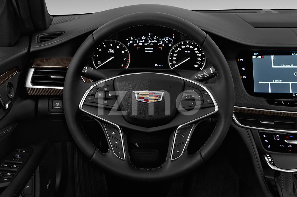 Car pictures of steering wheel view of a 2017 Cadillac CT6 RWD 4 Door Sedan Steering Wheel