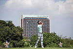 Xing Aowei plays during the World Celebrity Pro-Am 2016 Mission Hills China Golf Tournament on 22 October 2016, in Haikou, China. Photo by Victor Fraile / Power Sport Images