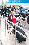 Graeme Murray, Sochi 2014. <br /> Team Canada arrives at the airport in Sochi for the Sochi 2014 Paralympic Winter // Équipe Canada arrive à l'aéroport de Sotchi pour Sochi 2014 Jeux paralympiques d'hiver. 28/02/2014.