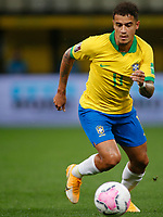 9th October 2020; Arena Corinthians, Sao Paulo, Sao Paulo, Brazil; FIFA World Cup Football Qatar 2022 qualifiers; Brazil versus Bolivia; Philippe Coutinho of Brazil