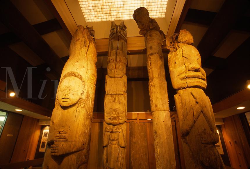 Totem pole display, Alaska